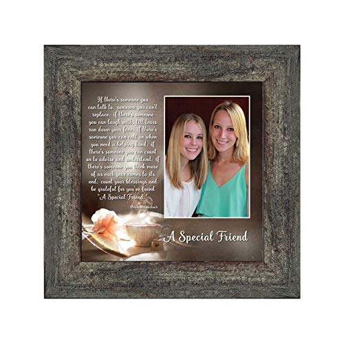 A Special Friend, Birthday Gift for Best Friend, Personized Picture Frame for Your Forever Best Friend, 10x10 6375BW