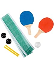 """Kidsco Mini Ping Pong Set - Table Tennis - 6.25"""" - Excellent Party Sport and Summer Game Indoors, Outdoors"""