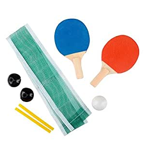 Kicko Mini Ping Pong Set - Table Tennis - 6.25 Inch - Excellent Party Sport and Summer Game Indoors, Outdoors