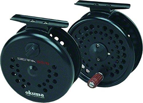 Okuma Sierra Diecast Aluminum Fly Reel, 5/6WT. Black