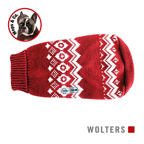 Wolters Norweger Pullover für Mops&Co 35cm rot/weiss