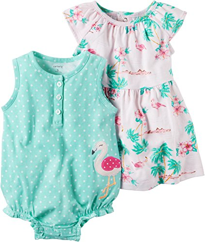 Carters Baby Girls 2 Pack Romper