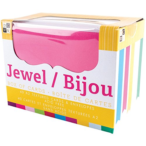 DCWV Cards and Envelopes, Jewel, 40-Pack, Size A2, 4-1/4 x 5-1/2 inches (Kit Making Card Occasions)