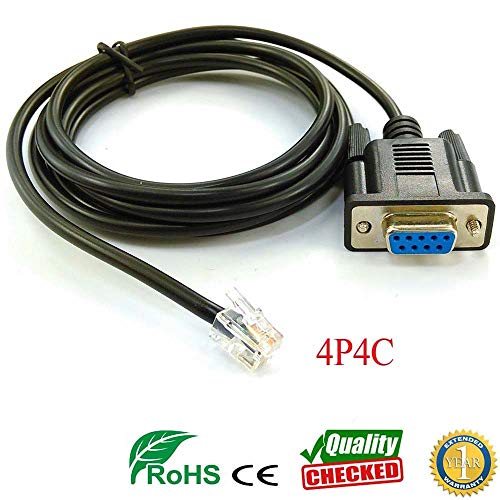 Computer Cables db9 rs232 Serial Cable to rj9 4p4c for servo cdhd 006 4d5 008 servotronix pc Link Cable - (Cable Length: 100cm, Color: Your Message pinout) ()