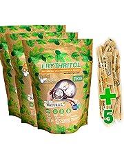 Zoetstof Erythritol 3kg 100% Natuurlijk 0 Calorieën DulciLight | Ideaal Voor Keto Diëten | +5 Zakjes Bruine Zoetstof Gratis | Suikervervanger | Geniet zonder Schuldgevoel