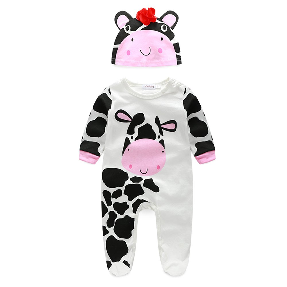 XIANGWU TEXTITLE SHIRT ベビーボーイズ 80(12-18 Months) Pink Cow B076FBJX48