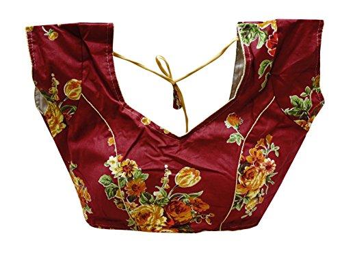 Peegli Women Stylish Cotton Stitched Saree Blouse Indian Crop Top Sari Choli