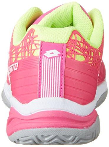 Lotto Viper Ultra Jr L, Zapatillas de Tenis Unisex Niños Varios colores (Multicolor / Fux Fl / Wht)