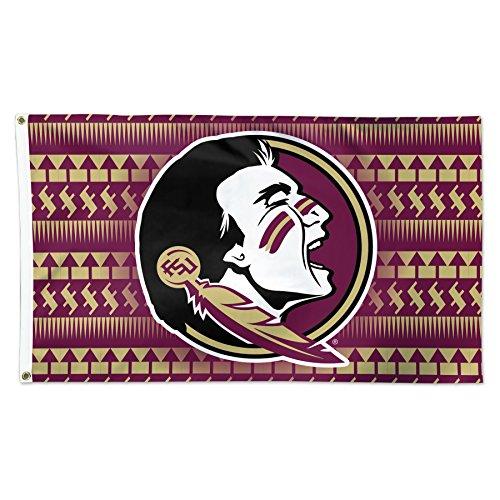 Florida State Seminoles Chevron Pattern NCAA Football 3 x 5 Foot Flag
