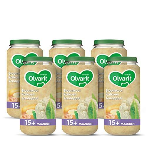 Olvarit Bloemkool Kalkoen Aardappel – babyhapje voor baby's vanaf 15+ maanden – 6×250 gram babyvoeding in een…