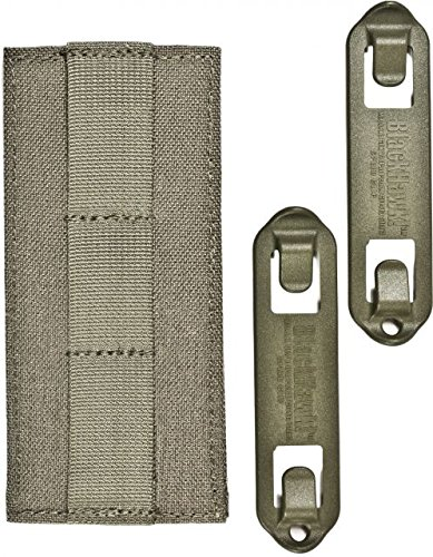 BLACKHAWK! Identification Panel Base with Speed Clips, Foliage Green Molle Base