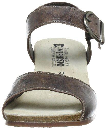 Mephisto MADELON GABIN 9365 DARK TAUPE P5053020 - Zapatos de pulsera de cuero para mujer Dark Taupe Gabin 9365