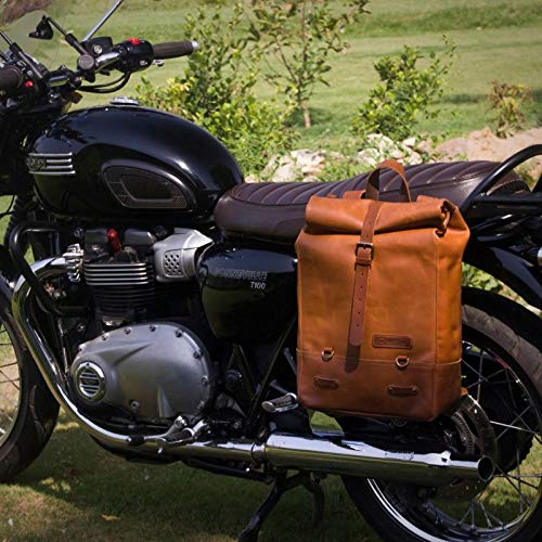 BACKPACK PANNIER CLASSIC ROLL TOP BAG VINTAGE TAN