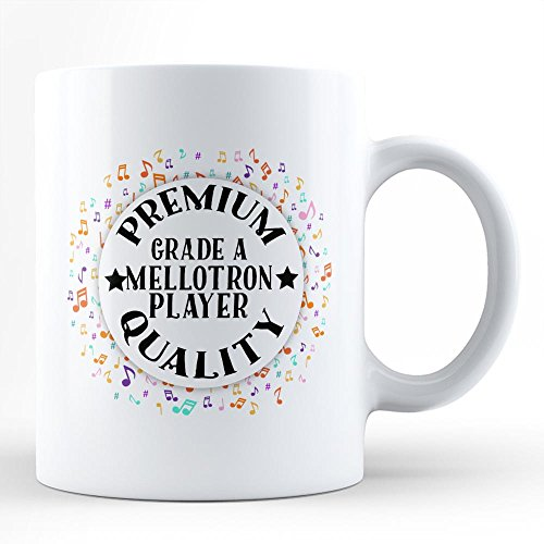 Mellotron Player Music Hobby Passion White Coffee Mug By HOM Best Mellotron Instrument Player Affordable Gift