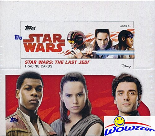 (2017 Topps Star Wars: The Last Jedi MASSIVE Factory Sealed Retail Box with 24 Packs & 144 Cards! Includes 24 Parallels & 24 Insert Cards! Look for Autographs, Sketch Cards & Relics! WOWZZER!)