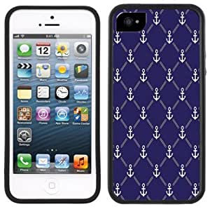Anchors Blue iPhone 5 Black Bumper Plastic Case iphone case lifeproof iphone covers