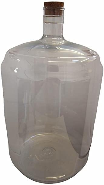 PET Plastic Carboy 5 gallon with bored plastic bung
