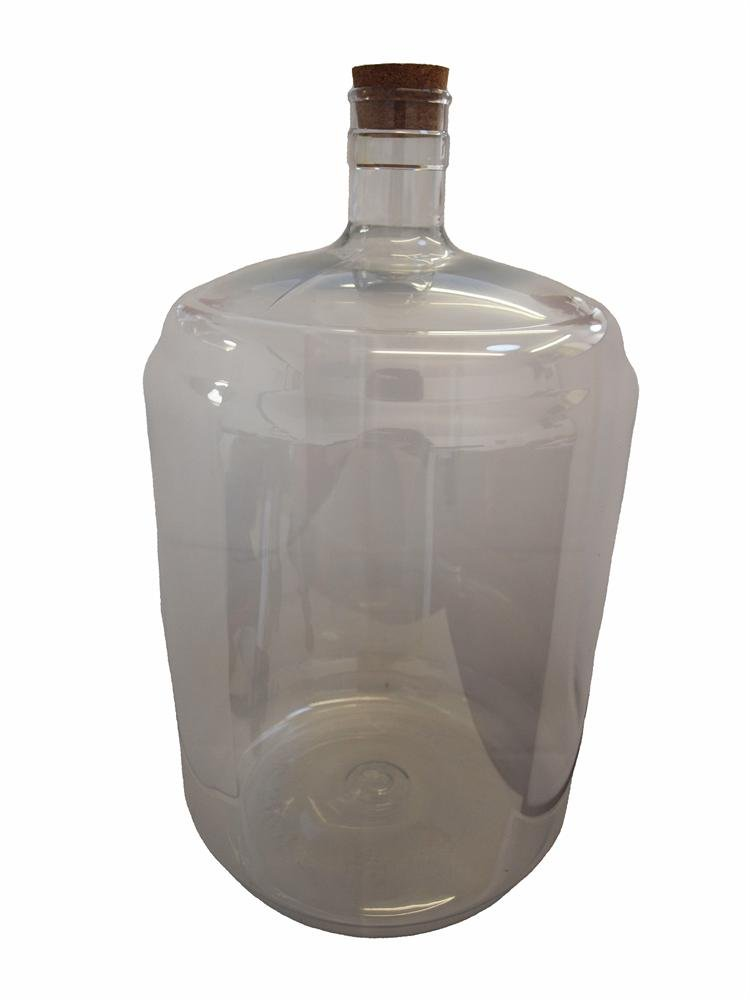 PET Plastic Carboy 5 gallon with bored bung