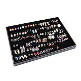 Best Stud Earrings For Girls - Glitterymall Black Velvet 60 Pairs Stud Earring Holder Review