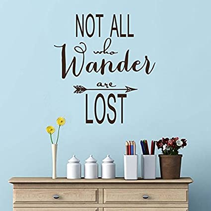 Wall Decal Decor Not All Who Wander are Lost - Wall Decal Inspirational Wall Decal Wall  sc 1 st  Amazon.com & Amazon.com: Wall Decal Decor Not All Who Wander are Lost - Wall ...