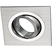 Wonderlamp Clasic W-E0 Foco empotrable cuadrado, Aluminio, 1 UNIDAD