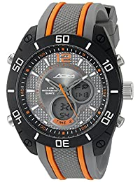American Design Machine Men's ADS 4004 ORG Indianapolis Analog-Digital Display Japanese Quartz Orange Watch