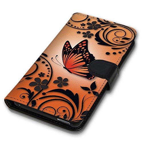 Wallet Book Style Flip Handy Tasche Case Schutz Hülle Schale Motiv Etui für Apple iPhone 6 / 6S - Design Flip MV254
