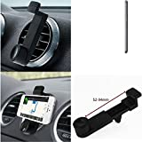 Car Smartphone Holder for Vodafone Smart Ultra 6, black. Car grille mount / air vent mount, secure hold | Simple, functional, safe, comfortable, universal - K-S-Trade (TM)