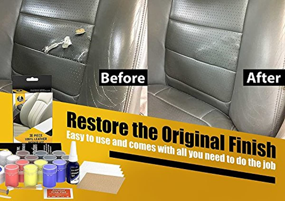 Leather And Vinyl Repair Kit Recolor Restoration Set For
