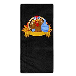 Thanksgiving Turkey Seamless Bathroom Beauty Towel One Size