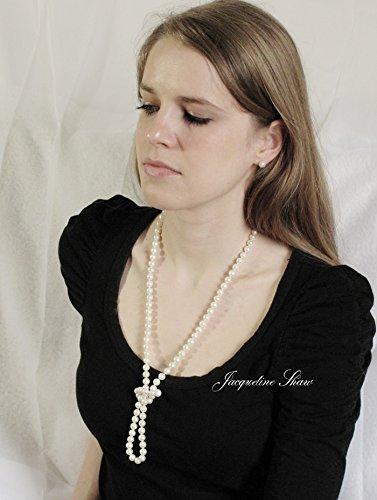 KATHERINE Hepburn Deluxe-années 1920Style Opéra Collier de perles (94cm)-AAA Perles d'eau douce