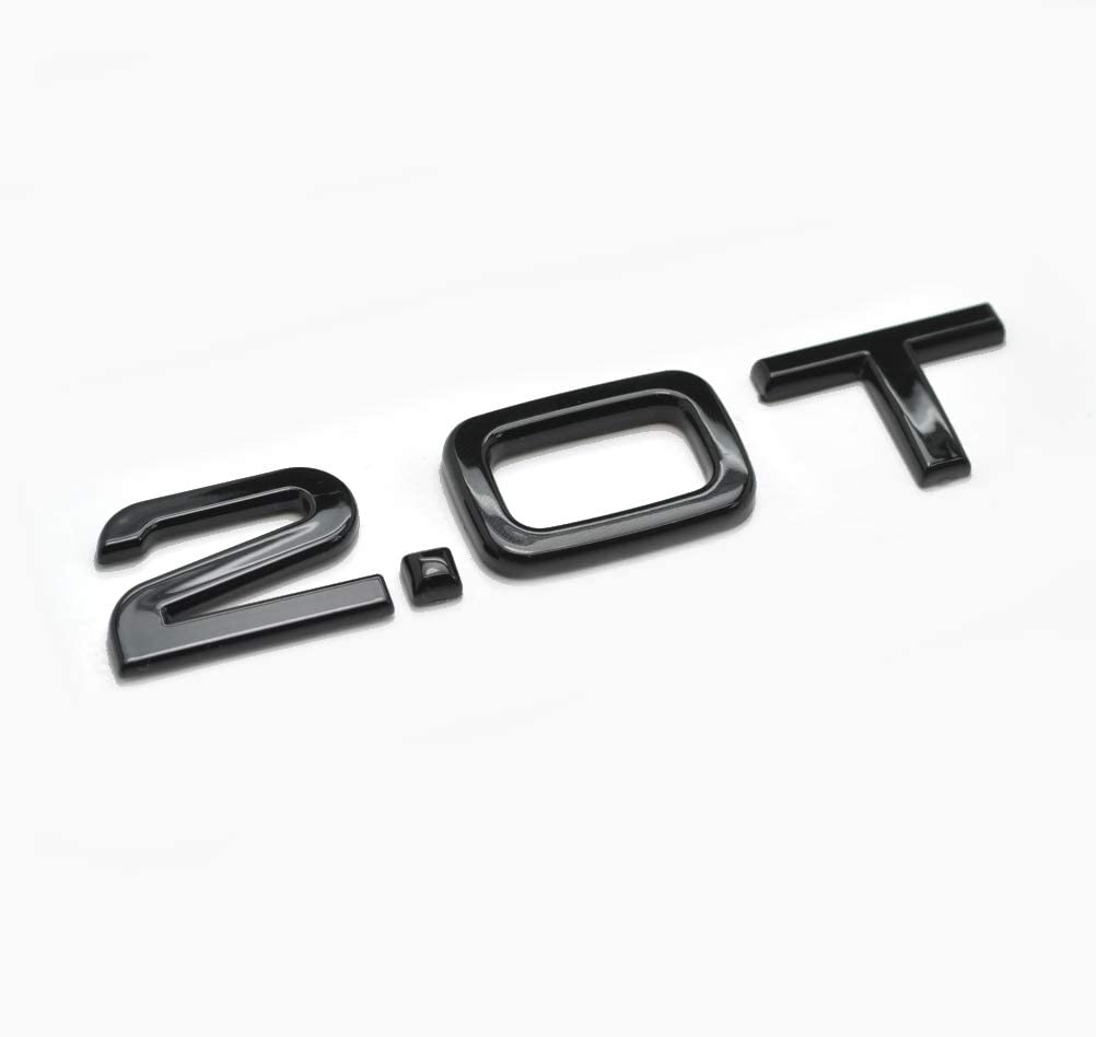 Gloss Black 2.0T Lettering Rear Boot Lid Trunk Badge Emblem For A1 A2 A3 A4 A5 A6 A7 A8 Q1 Q2 Q3 Q5 Q7 Q8 TT RS TDI