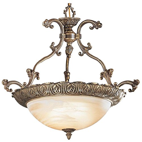 Classic Lighting 68522 RB Montego Bay, Cast Brass and Glass, Light Pendant, 28