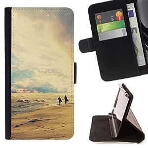 Momo Phone Case / Flip Funda de Cuero Case Cover - Naturaleza Playa Retro - Apple Iphone 6