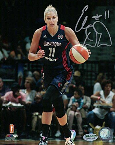 Elena Delle Donne Autographed Washington Mystics WNBA 8x10 Photo SGC