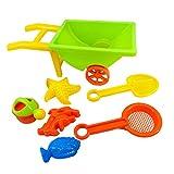 16inch Beach Wheelbarrow Toy Set for Kids Random Color