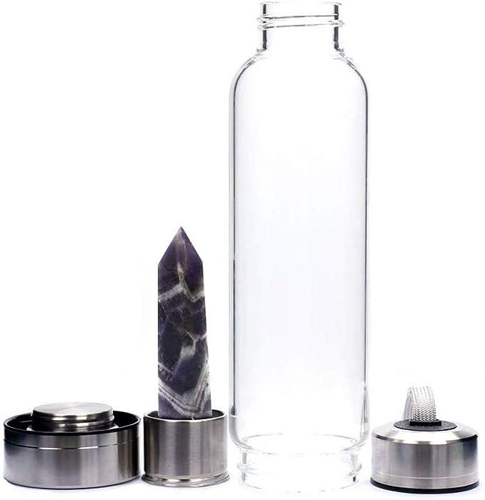Botella de agua de cristal CTlite, 500 ml, botella de agua de ...