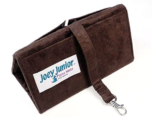 Ultra Suede Organizer - Joey Junior Mini Purse Organizer Insert -Ultra Suede-Chocolate Brown
