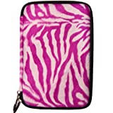 eBigValue Magenta Zebra Faux Animal Fur Sleeve For ViewSonic ViewPad 7 Inch Tab & ViewPad E70 ICS Bluetooth Android Notebook WiFi Tablet