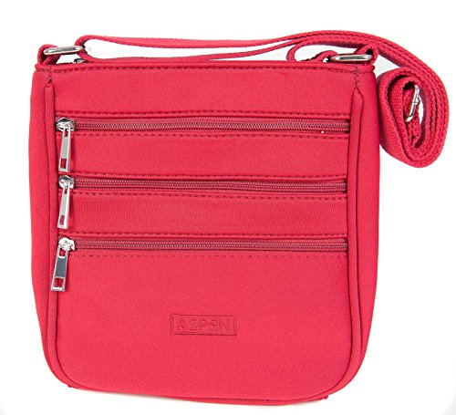 Aspen - Bolso cruzados para mujer rojo small rojo