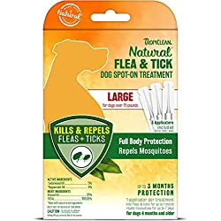 TropiClean Flea and Tick Spot On Treatment for Large Dogs