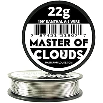 100 ft - 22 Gauge Kanthal A1 Resistance Wire from Master Of Clouds ...