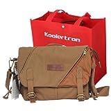 Koolertron BBK6 Canvas DSLR Camera Bag Messenger Shoulder Bag For Nikon Sony Canon Olympus, Best Gadgets
