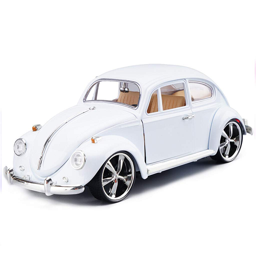 DUWEN-Automodell Volkswagen Classic Beetle Automodell 1:18 Legierung Emulation Automodell Oldtimer Modell Dekoration Geschenk (Farbe : Weiß)