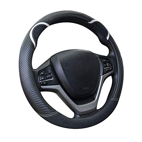 - Charmchic Cute Bear Black Steering Wheel Cover Faux Carbon Fiber for Girl Men and Women Universal Fit 15 Inch Car Anti-Slip Odorless Sport Design Protect Hand from Hot and Cold Applicable to Accord