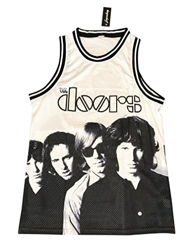 Morrison Jersey - Legends Of Rock Men's The Doors T Shirt Jersey Rock and Roll Limited Edition (Large)