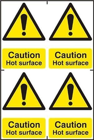 Espectro Industrial 1316 Cartel Caution Hot Superficie ...