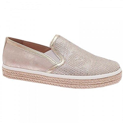 Gold On Slip Textured Alpe Women's Moccasin wpxCOZCSq