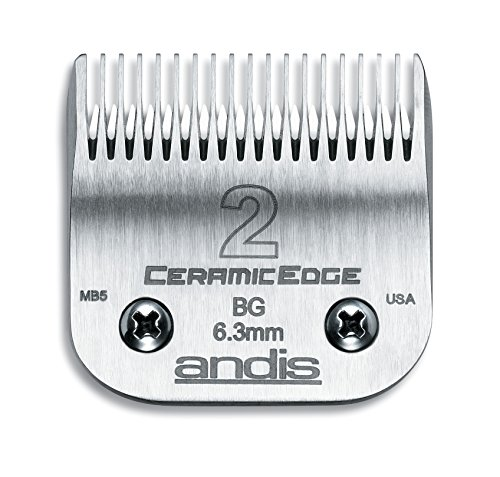 Andis CeramicEdge Carbon-Infused Steel Clipper Blade, Size-2, 1/4-Inch Cut Length - Ande Accessories Chromes