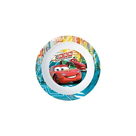 Plato hondo de plastico para microondas kids Cars Neon Racers Cup ...